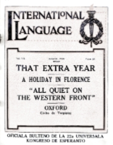 International Language : a monthly magazine. Vol. 7 (1930), March