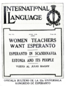 International Language : a monthly magazine. Vol. 7 (1930), April