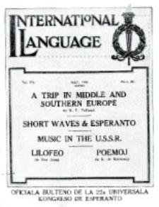 International Language : a monthly magazine. Vol. 7 (1930), May