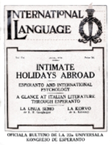 International Language : a monthly magazine. Vol. 7 (1930), June