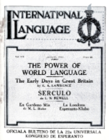 International Language : a monthly magazine. Vol. 7 (1930), August