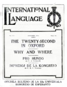 International Language : a monthly magazine. Vol. 7 (1930), October