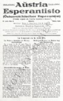 Aŭstria Esperantisto : oficiala organo de Aŭstria Esperanto-Asocio = Österreichischer Esperantist. Jaro 8, n-o 6 (Junio 1931)
