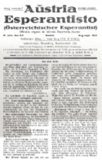 Aŭstria Esperantisto : oficiala organo de Aŭstria Esperanto-Asocio = Österreichischer Esperantist. Jaro 8, n-o 8/9 (Aŭg.-Sept. 1931)