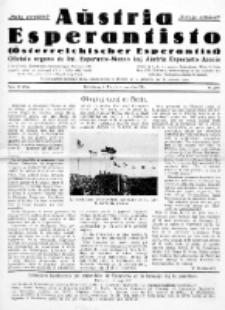 Aŭstria Esperantisto : oficiala organo de Aŭstria Esperanto-Asocio = Österreichischer Esperantist. Jaro 13, n-o 11 (Novembro 1936)