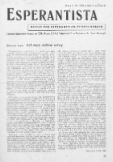 Esperantista : revuo por esperanto en Ĉeĥoslovakio. Roc. 5, Cis. 8 (1950)