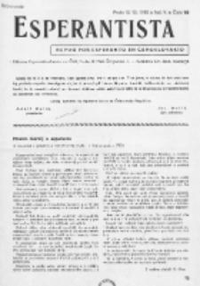 Esperantista : revuo por esperanto en Ĉeĥoslovakio. Roc. 5, Cis. 10 (1950)