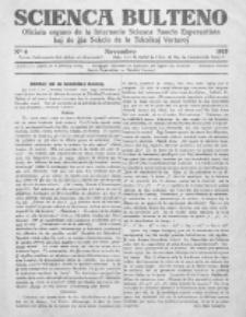 Scienca Bulteno : oficiala organo de la Internacia Scienca Asocio Esperantista kaj de ĝia Sekcio de la Teknikaj Vortaroj / Red. Rollet de l'Isle M. No 6 (Novembro 1925)