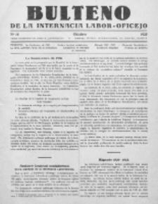 Bulteno de la Internacia Labor-Oficejo. No 15 (Oktobro 1925)
