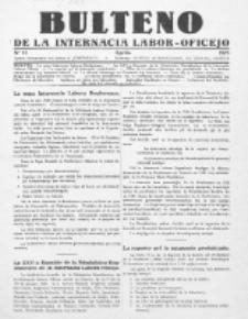 Bulteno de la Internacia Labor-Oficejo. No 13 (Aprilo 1925)