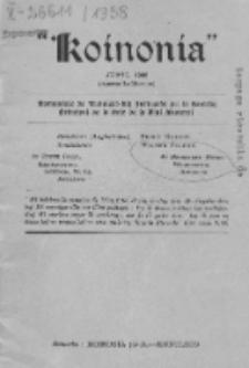 Koinonia : komunikilo de kunuleco kaj instruado pri la sanktaj principoj de la diaj misteroj. (Junio 1938)