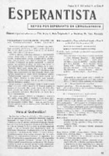 Esperantista : revuo por esperanto en Ĉeĥoslovakio. Roc. 6, Cis. 9 (1951)