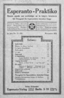 Esperanto-Praktiko : instrua kaj literatura gazeto monata por perfektigo en la Lingvo Internacia.Jaro 3, No 11=35 (novembro1921)