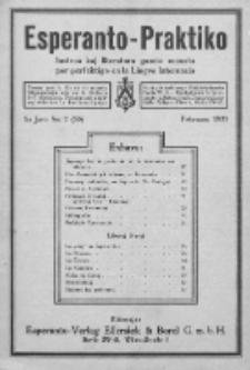 Esperanto-Praktiko : instrua kaj literatura gazeto monata por perfektigo en la Lingvo Internacia.Jaro 5, No 2=50 (februaro1923)