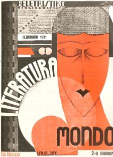 Literatura Mondo. Periodo 2, Jaro 1, numero 2 (Februaro 1931)