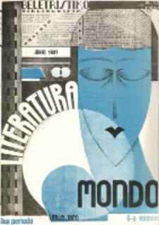 Literatura Mondo. Periodo 2, Jaro 1, numero 6 (Junio 1931)