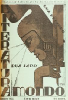 Literatura Mondo. Periodo 2, Jaro 2, numero 9 (Septembro 1932)