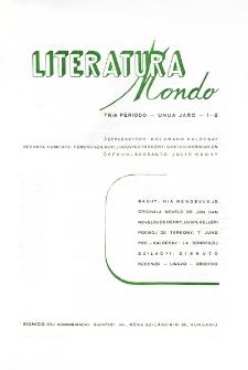 Literatura Mondo. Periodo 3, Jaro 1, numero 1-2 (1947)