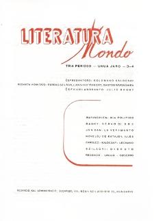 Literatura Mondo. Periodo 3, Jaro 1, numero 3-4 (1947)