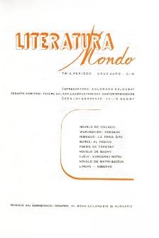 Literatura Mondo. Periodo 3, Jaro 1, numero 9-10 (1947)