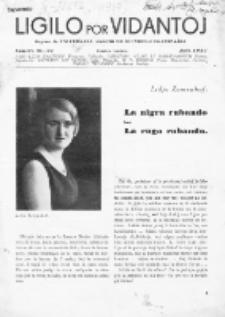 Ligilo por Vidantoj : organo de Universala Asocio de Blindul-Organizaĵoj.Jaro 1937, No 21/22