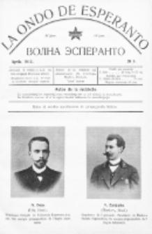 La Ondo de Esperanto : volna esperanto. Jaro 4, No 4 (aprilo1912)