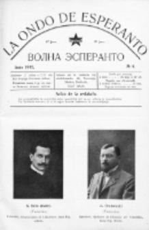 La Ondo de Esperanto : volna esperanto. Jaro 4, No 6 (junio1912)