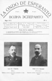 La Ondo de Esperanto : volna esperanto. Jaro 4, No 5 (majo1912)
