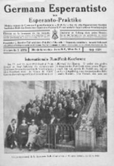Germana Esperantisto : monata gazeto por la vastigado de la lingvo Esperanto.Jaro 21a, No 5 (majo1924)