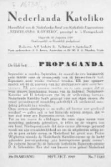 """Nederlanda Katoliko : maandblad, officieel orgaan van den Nederl. R.-Kath. Esperantistenbond """"Nederlanda Katoliko"""". Jg. 29, no 7 (1949)"""