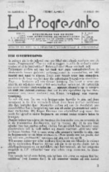 La Progresanto : studieblad van de Federatie van Arbeiders-Esperantisten in het Gebied van de Nederlandse Taal. Jaargang 10, no 1 (Januari 1948)