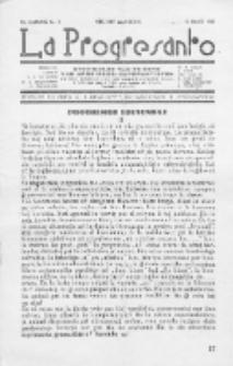 La Progresanto : studieblad van de Federatie van Arbeiders-Esperantisten in het Gebied van de Nederlandse Taal. Jaargang 10, no 3 (Maart 1948)