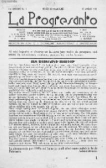 La Progresanto : studieblad van de Federatie van Arbeiders-Esperantisten in het Gebied van de Nederlandse Taal. Jaargang 11, no 1 (Januari 1949)