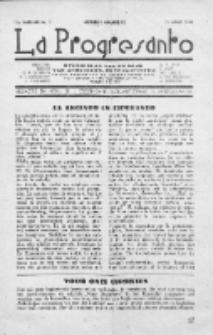 La Progresanto : studieblad van de Federatie van Arbeiders-Esperantisten in het Gebied van de Nederlandse Taal. Jaargang 11, no 3 (Maart 1949)