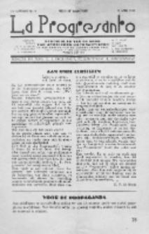 La Progresanto : studieblad van de Federatie van Arbeiders-Esperantisten in het Gebied van de Nederlandse Taal. Jaargang 1, no 4 (April 1949)