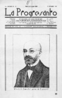 La Progresanto : studieblad van de Federatie van Arbeiders-Esperantisten in het Gebied van de Nederlandse Taal. Jaargang 11, no 12 (December 1949)