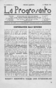 La Progresanto : studieblad van de Federatie van Arbeiders-Esperantisten in het Gebied van de Nederlandse Taal. Jaargang 12, no 2 (Februari 1950)