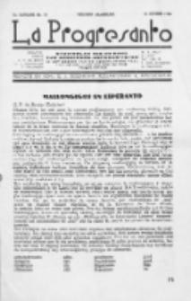 La Progresanto : studieblad van de Federatie van Arbeiders-Esperantisten in het Gebied van de Nederlandse Taal. Jaargang 12, no 10 (October 1950)