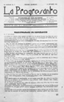 La Progresanto : studieblad van de Federatie van Arbeiders-Esperantisten in het Gebied van de Nederlandse Taal. Jaargang 12, no 9 (September 1950)