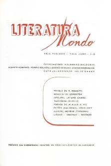 Literatura Mondo. Periodo 3, Jaro 3, numero 1/2 (1949)