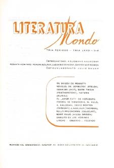 Literatura Mondo. Periodo 3, Jaro 3, numero 3/4 (1949)