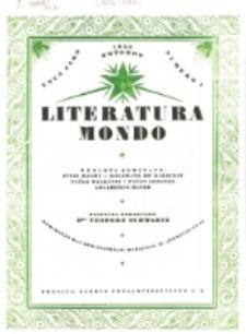 Literatura Mondo. Jaro 1, numero 1 (Oktobro 1922)