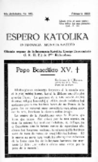 Espero Katolika.Jarkolekto 14a, No 125 (1922)