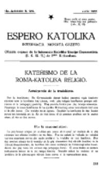 Espero Katolika.Jarkolekto 14a, No 129 (1922)