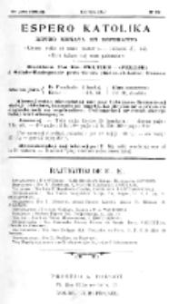 Espero Katolika.Jaro 3a, No 22 (1904/1905)