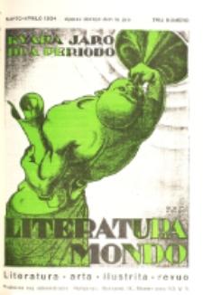 Literatura Mondo. Periodo 2, Jaro 4, numero 3 (Marto-Aprilo 1934)