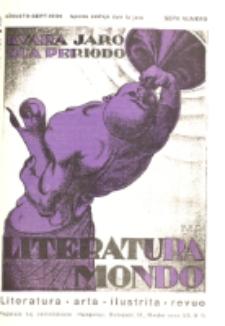 Literatura Mondo. Periodo 2, Jaro 4, numero 7 (Augusto-Sept. 1934)