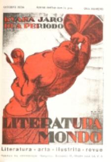 Literatura Mondo. Periodo 2, Jaro 4, numero 8 (Oktobro 1934)