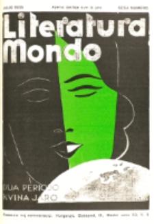 Literatura Mondo. Periodo 2, Jaro 5, numero 6 (Julio 1935)