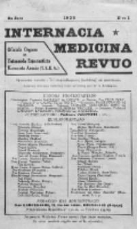 Internacia Medicina Revuo : oficiala Organo de Tutmonda Esperantista Kuracista Asocio. Jaro 8, no 1 (1930)